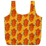Bugs Eat Autumn Leaf Pattern Full Print Recycle Bags (L)  Front
