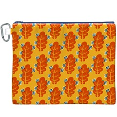 Bugs Eat Autumn Leaf Pattern Canvas Cosmetic Bag (xxxl) by CreaturesStore