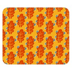 Bugs Eat Autumn Leaf Pattern Double Sided Flano Blanket (small)  by CreaturesStore