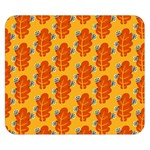 Bugs Eat Autumn Leaf Pattern Double Sided Flano Blanket (Small)  50 x40 Blanket Back