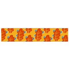Bugs Eat Autumn Leaf Pattern Flano Scarf (small) by CreaturesStore