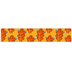 Bugs Eat Autumn Leaf Pattern Flano Scarf (large)