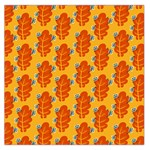 Bugs Eat Autumn Leaf Pattern Large Satin Scarf (Square) Front