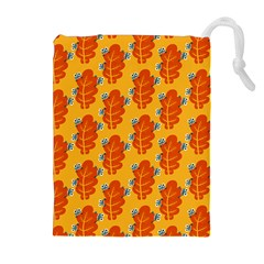 Bugs Eat Autumn Leaf Pattern Drawstring Pouches (extra Large) by CreaturesStore