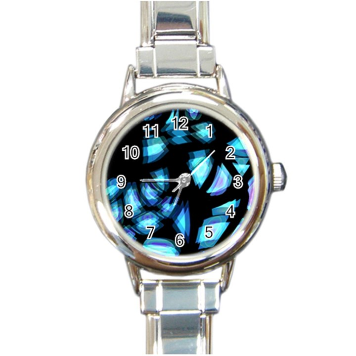 Blue light Round Italian Charm Watch