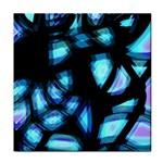 Blue light Tile Coasters