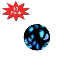 Blue Light 1  Mini Buttons (10 Pack)