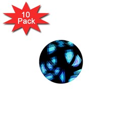 Blue light 1  Mini Magnet (10 pack)