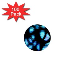 Blue light 1  Mini Magnets (100 pack)