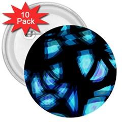 Blue Light 3  Buttons (10 Pack)