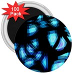 Blue light 3  Magnets (100 pack) Front