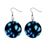 Blue light Mini Button Earrings Front