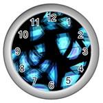 Blue light Wall Clocks (Silver)  Front