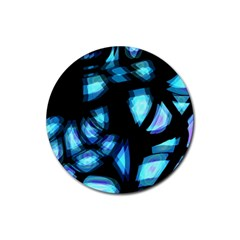 Blue light Rubber Coaster (Round)