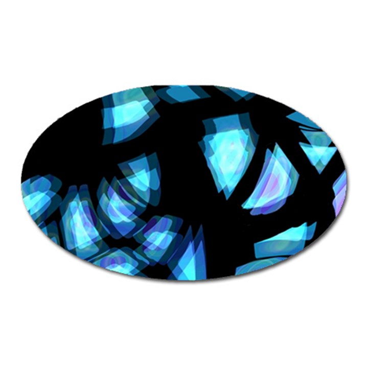 Blue light Oval Magnet