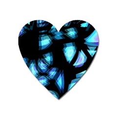 Blue light Heart Magnet