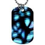 Blue light Dog Tag (One Side) Front