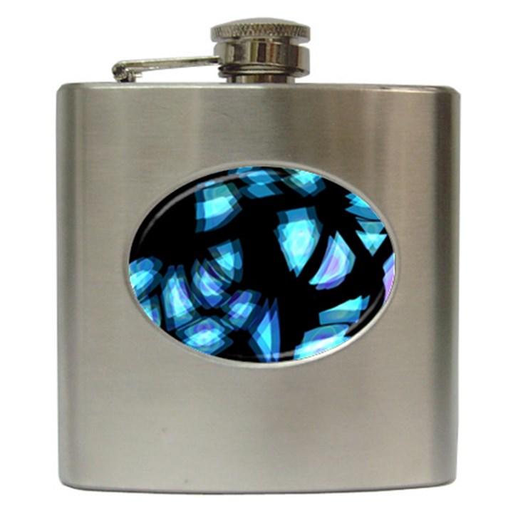Blue light Hip Flask (6 oz)