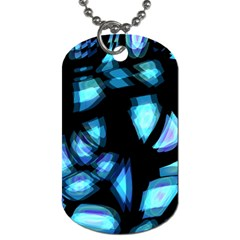 Blue light Dog Tag (Two Sides)