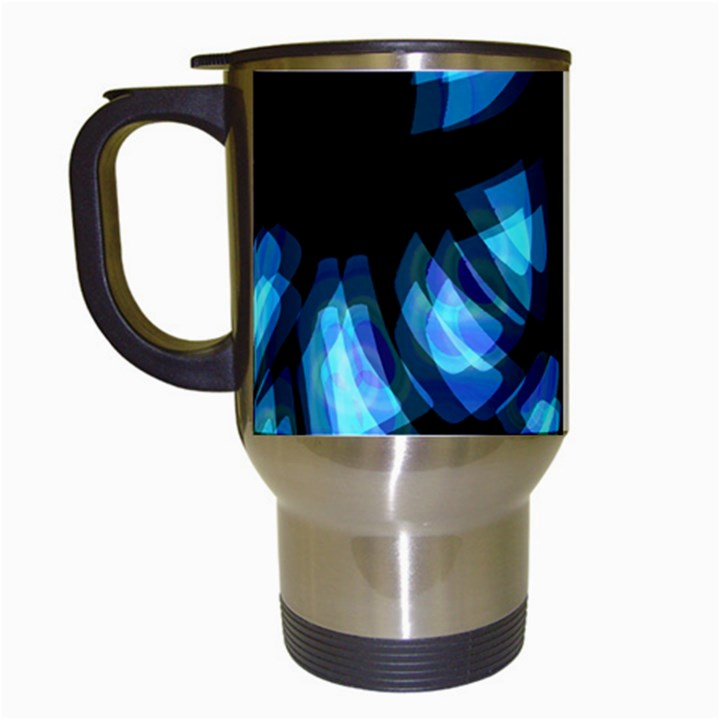 Blue light Travel Mugs (White)