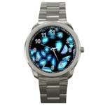 Blue light Sport Metal Watch Front