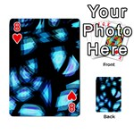 Blue light Playing Cards 54 Designs  Front - Heart8