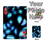 Blue light Playing Cards 54 Designs  Front - HeartA