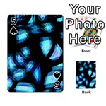 Blue light Playing Cards 54 Designs  Front - Spade5