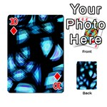 Blue light Playing Cards 54 Designs  Front - Diamond10