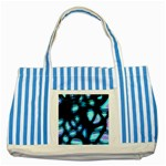 Blue light Striped Blue Tote Bag Front