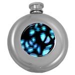 Blue light Round Hip Flask (5 oz)