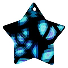 Blue light Star Ornament (Two Sides)