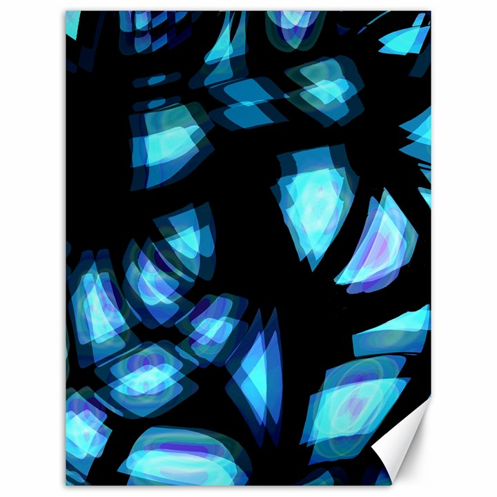 Blue light Canvas 12  x 16