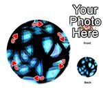 Blue light Playing Cards 54 (Round)  Front - Heart9