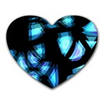 Blue light Heart Mousepads Front
