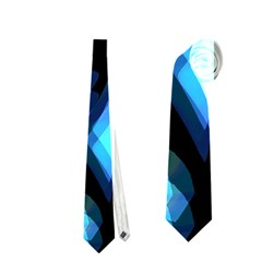 Blue light Neckties (Two Side)  by Valentinaart