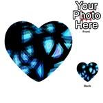 Blue light Multi-purpose Cards (Heart)  Back 51