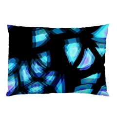 Blue Light Pillow Case by Valentinaart