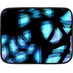 Blue light Double Sided Fleece Blanket (Mini)  35 x27 Blanket Front