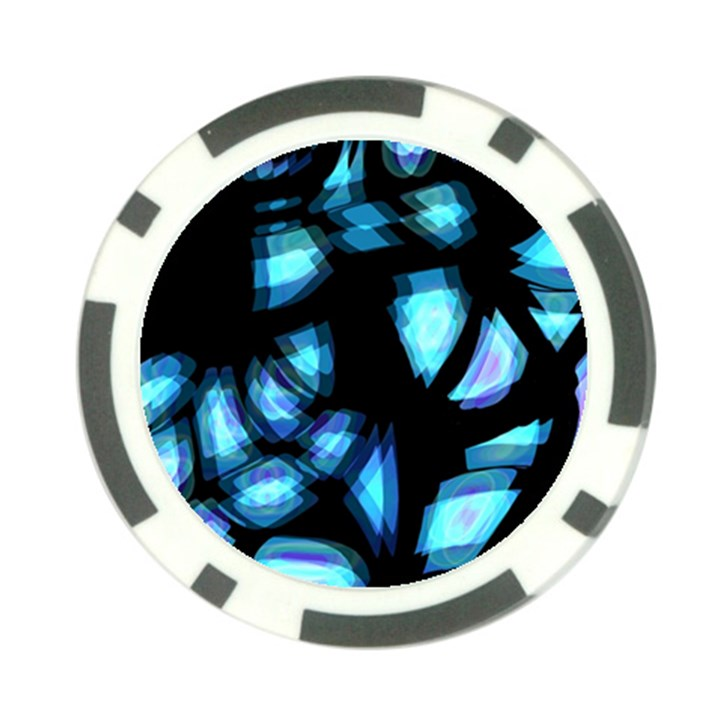 Blue light Poker Chip Card Guards (10 pack)