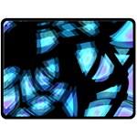 Blue light Fleece Blanket (Large)