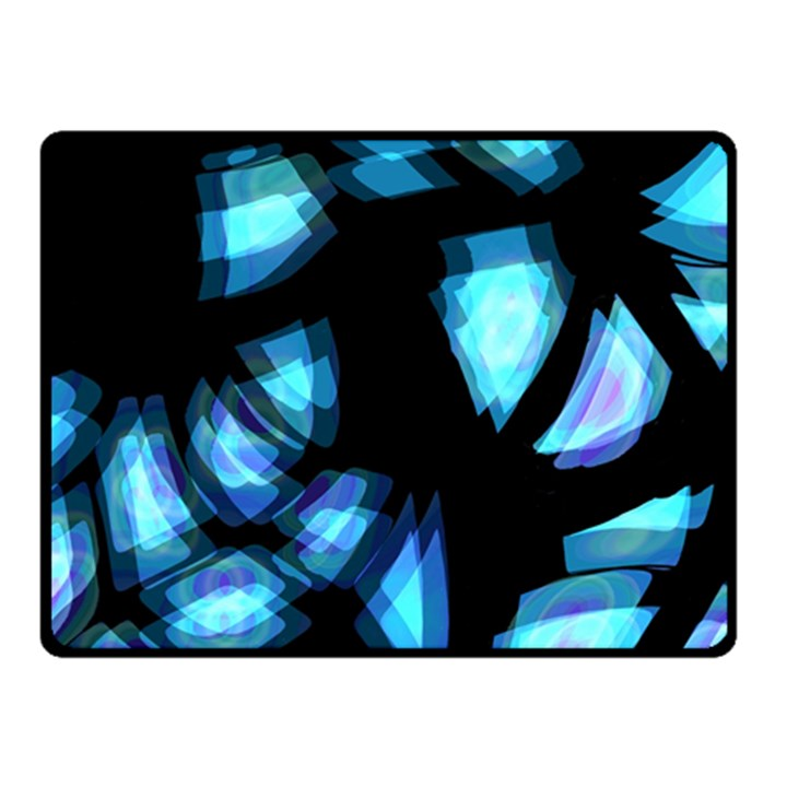 Blue light Fleece Blanket (Small)