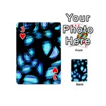 Blue light Playing Cards 54 (Mini)  Front - Heart3