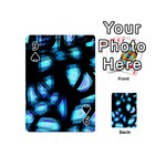 Blue light Playing Cards 54 (Mini)  Front - Spade9