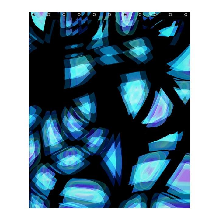 Blue light Shower Curtain 60  x 72  (Medium)