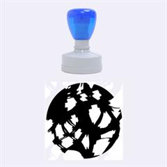 Blue Light Rubber Round Stamps (medium)