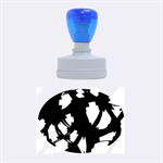 Blue light Rubber Oval Stamps 1.88 x1.37  Stamp