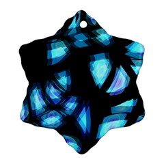 Blue light Snowflake Ornament (2-Side)
