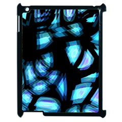 Blue light Apple iPad 2 Case (Black)