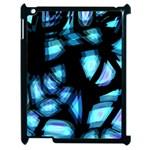 Blue light Apple iPad 2 Case (Black)